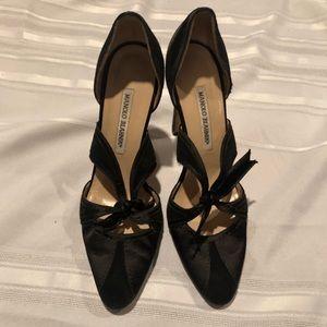 Manolo Blahnik satin heels